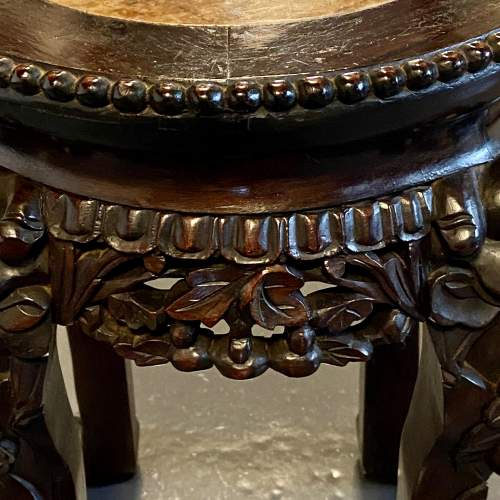 Early 20th Chinese Hardwood Jardiniere Stand image-5