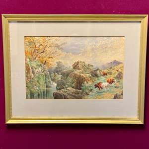 19th Century Original Watercolour by Charles Edward Brittan