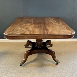 Regency Mahogany Tilt Top Dining Table