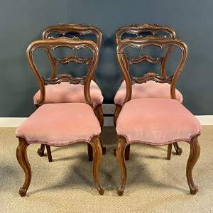 Victorian Rosewood Set of Four Dining Chairs