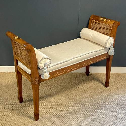 Continental Mahogany Bergere Window Seat image-2