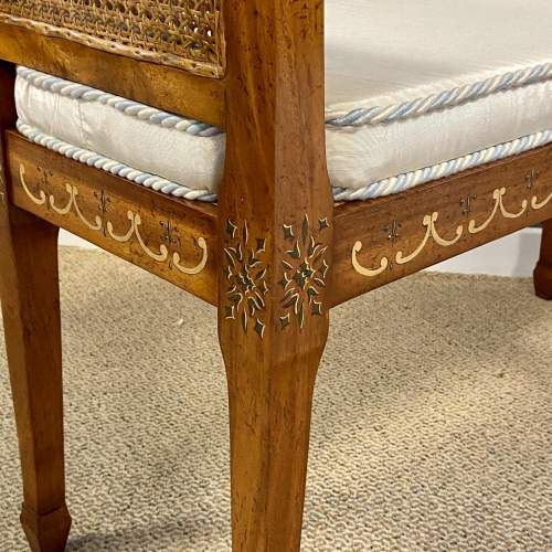 Continental Mahogany Bergere Window Seat image-4
