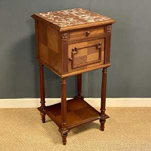 Early 20th Century French Walnut Bedside Cabinet