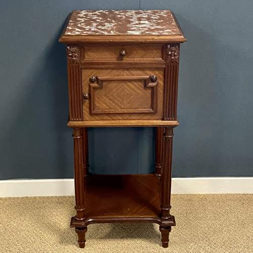 Early 20th Century French Walnut Bedside Cabinet image-2