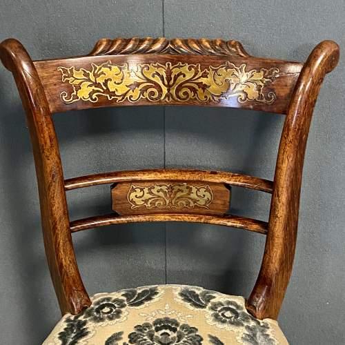 Regency Period Adjustable Rosewood Harpists Chair image-2