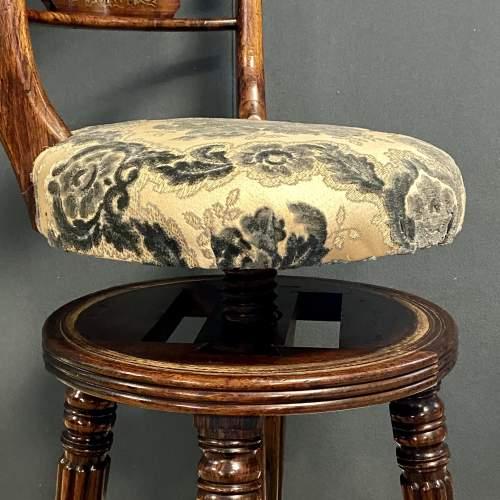 Regency Period Adjustable Rosewood Harpists Chair image-3