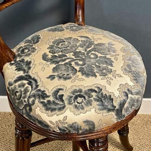 Regency Period Adjustable Rosewood Harpists Chair image-5