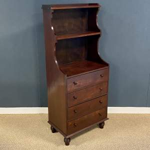 Late 19th Century Mahogany Chest Topped by Waterfall Book Shelves