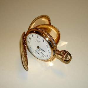 Rolled Gold Hunter Pocket Watch