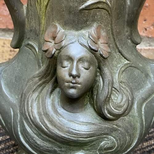 Pair of Art Nouveau Spelter Vases image-6