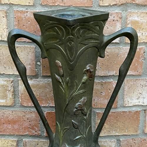 Pair of Art Nouveau Spelter Vases image-3