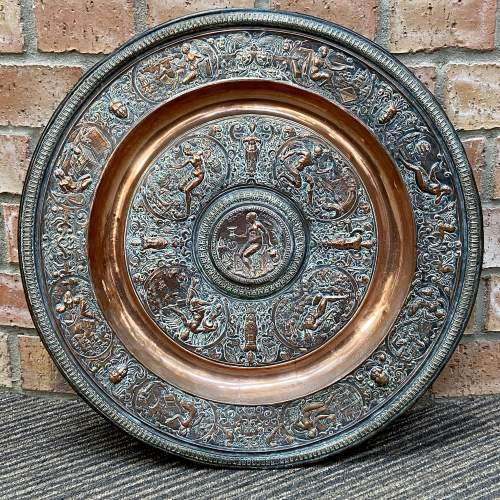 Large French Temperantia Copper Charger image-1