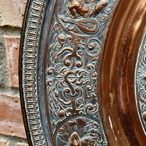 Large French Temperantia Copper Charger image-3