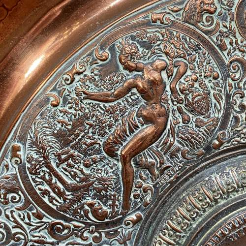 Large French Temperantia Copper Charger image-5