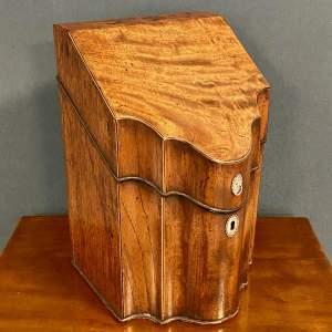 George III Mahogany Cutlery Box