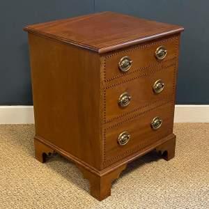 20th Century Small Inlaid Mahogany Storage Box