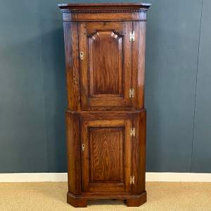 19th Century Oak Standing Corner Cupboard