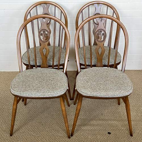 Set of Four Ercol Dining Chairs image-1