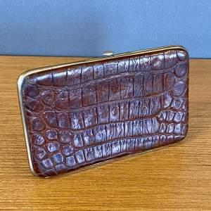 20th Century Crocodile Card Case