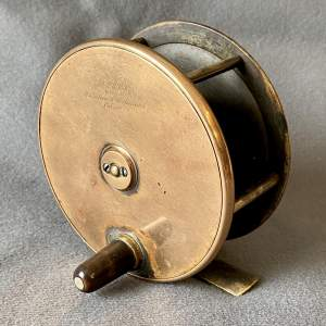 Army and Navy Brass Faced Salmon Reel