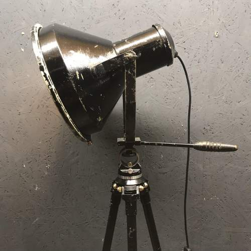 Large Vintage Spotlight Mounted on a Lovely Vintage Tripod image-5