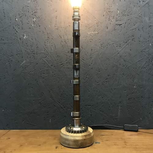 Unique Aeroplane Cam Shaft Pedestal Lamp image-1