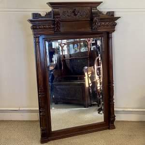 Large Oak Framed Mirror
