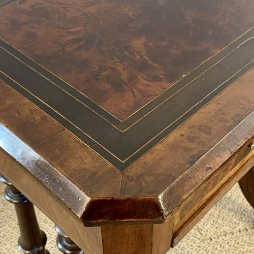 Late Victorian Inlaid Work or Sewing Table image-3