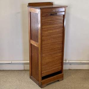 20th Century Tambour Front Filing Cabinet