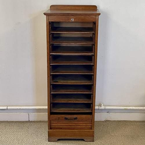 20th Century Tambour Front Filing Cabinet image-3