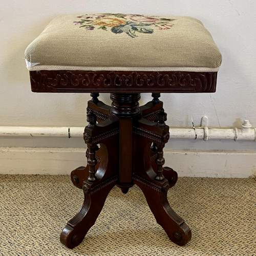 Gothic Revival Piano Stool image-1