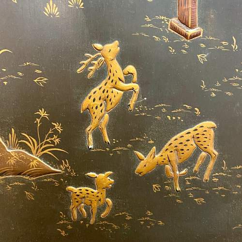 Japanese Embossed Lacquered Framed Wall Panel image-3