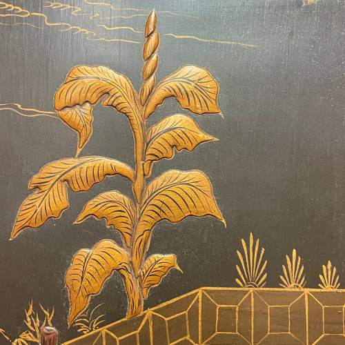 Japanese Embossed Lacquered Framed Wall Panel image-4