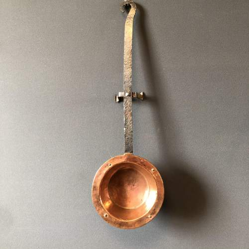Iron Handled Copper Pan image-1