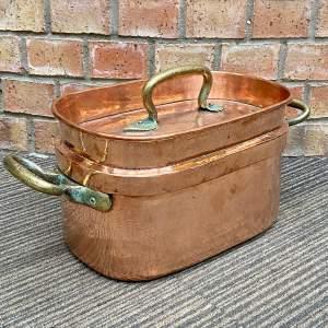 Vintage French Copper Daubiere