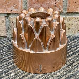 20th Century French L Tendrerie Copper Aspic Jelly Mould