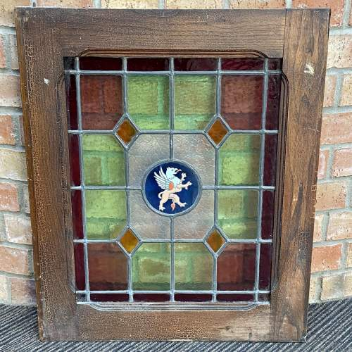 Vintage French Pair of Stained Glass Windows image-2