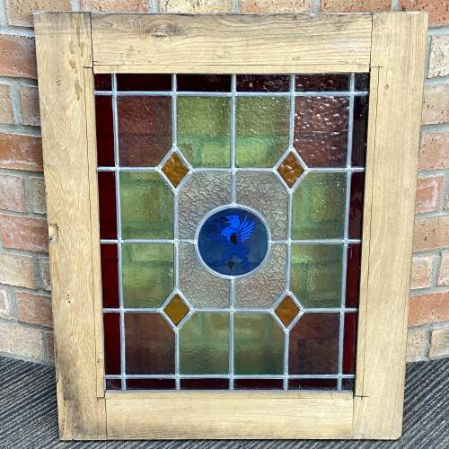 Vintage French Pair of Stained Glass Windows image-6
