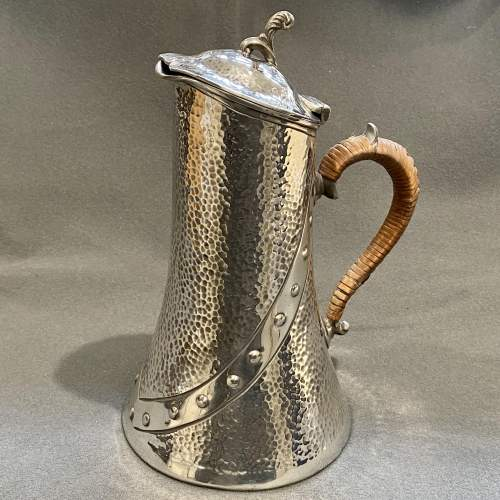 20th Century Arts and Crafts Pewter Water Jug image-1