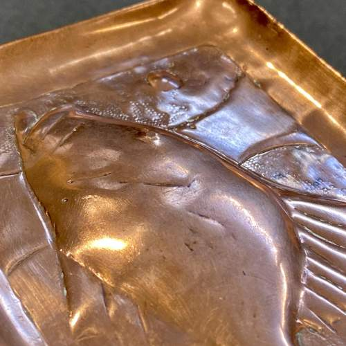 20th Century Newlyn Copper Pin Tray of a Fish image-3