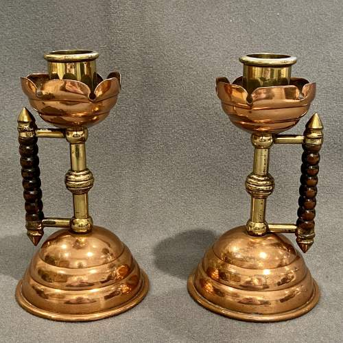 Pair of Arts and Crafts Candlesticks by Benham and Froud image-2
