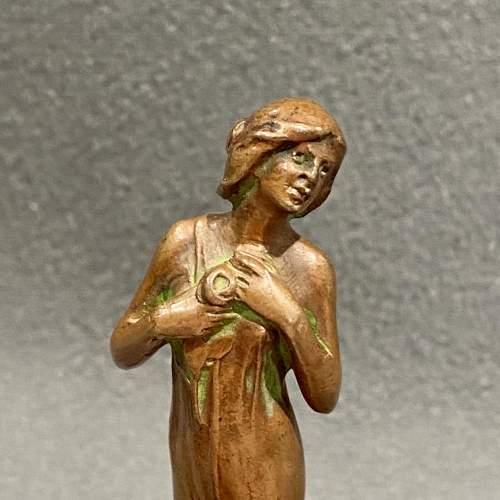 Art Nouveau French Bronze Desk Seal image-2