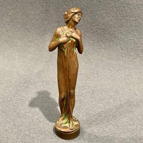 Art Nouveau French Bronze Desk Seal image-1