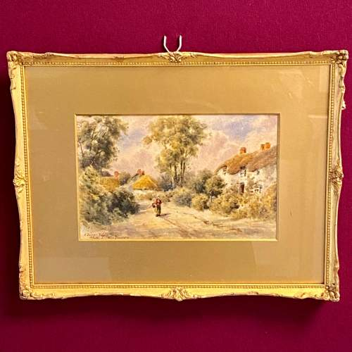19th Century Dorset Village Watercolour by Tom Dudley image-1