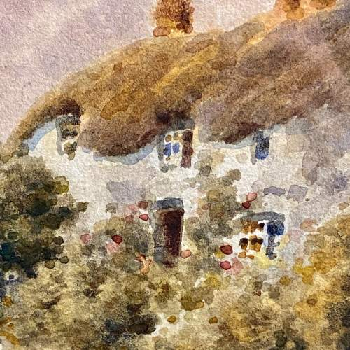 19th Century Dorset Village Watercolour by Tom Dudley image-3
