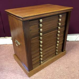Victorian Coin Collectors Wellington Chest