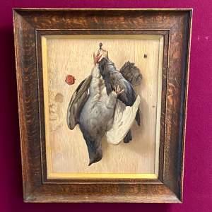 19th Century Trompe L'oeil Of Pidgeons