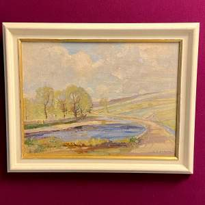 Wharfedale Landscape Oil on Board by Gordon Clifford Barlow