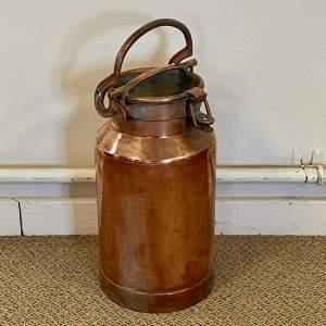 20th Century Copper Milk Churn
