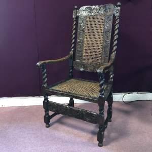 Georgian Walnut Carver Chair